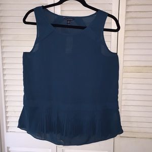 American Eagle teal blouse with detailing
